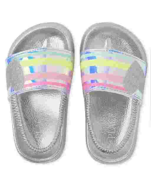 Toddler Girls Glitter Heart Slides