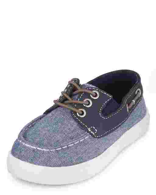 Toddler Boys Chambray Boat Shoes