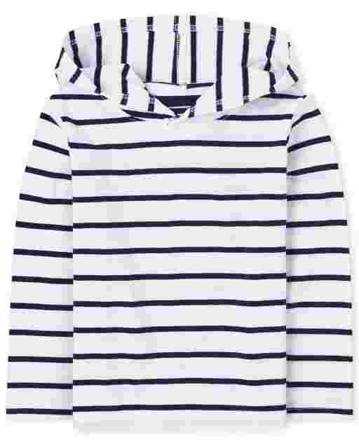 Baby And Toddler Boys Long Sleeve Striped Hoodie Top