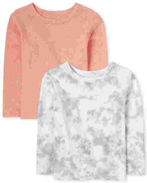 Baby And Toddler Boys Long Sleeve Tie Dye Top 2-Pack