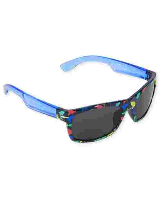 Toddler Boys Print Traveler Sunglasses
