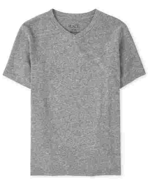 Boys Short Sleeve V Neck Top