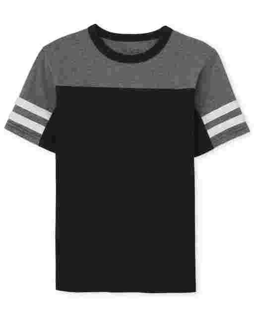 Boys Short Sleeve Colorblock Top