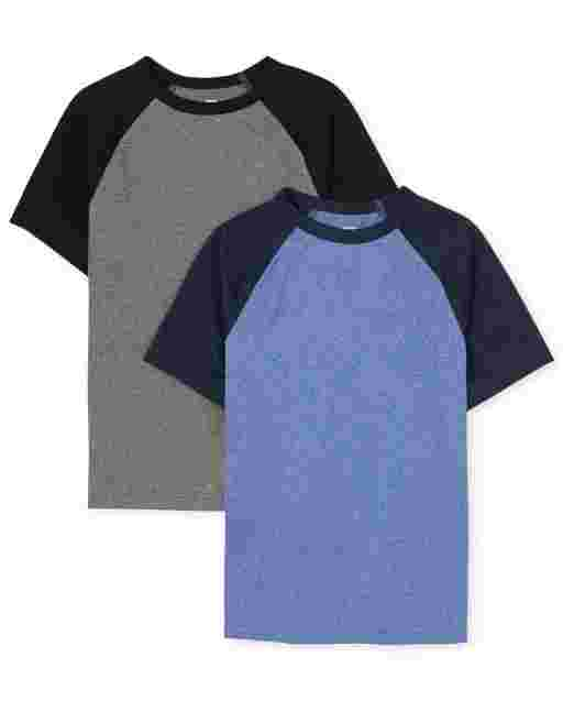 Boys Short Sleeve Performance Raglan Top 2-Pack