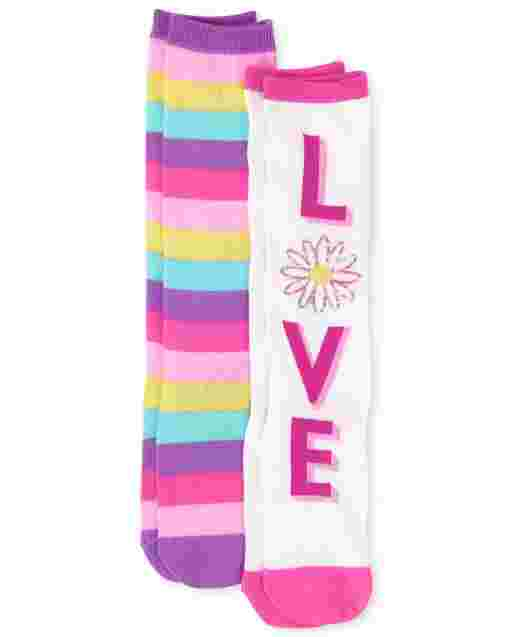 Girls Love Knee Socks 2-Pack
