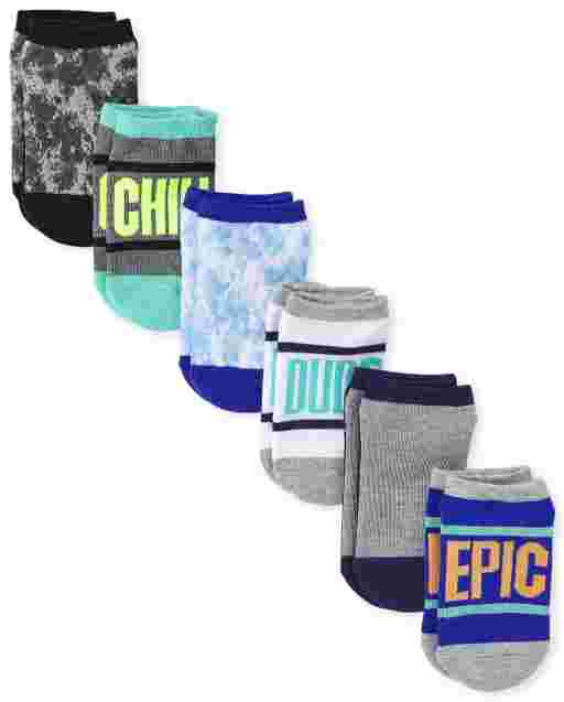 Boys Epic Cushioned Ankle Socks 6-Pack