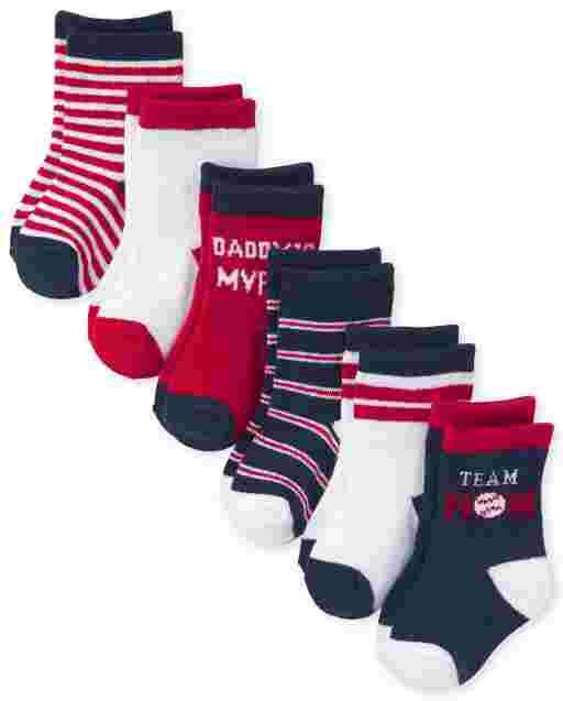Baby Boys Varsity Midi Socks 6-Pack