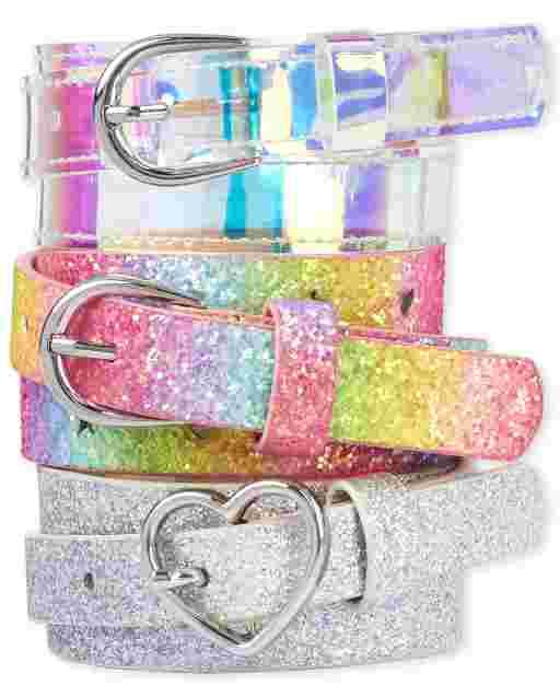 Girls Glitter Belt 3-Pack