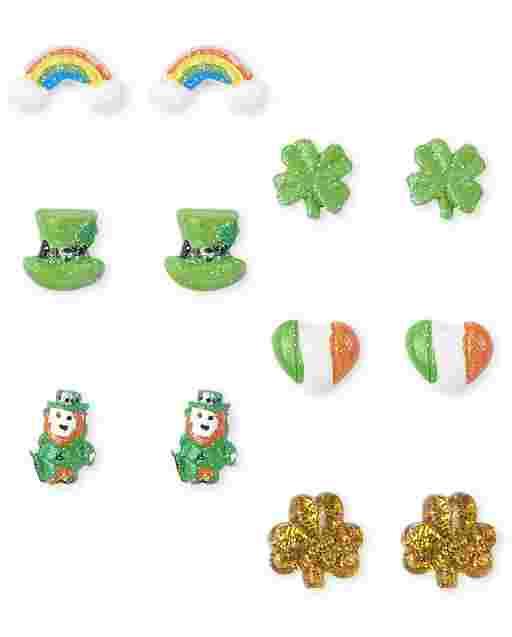 Chicas St. Patrick ' s pendientes Día 6-Pack