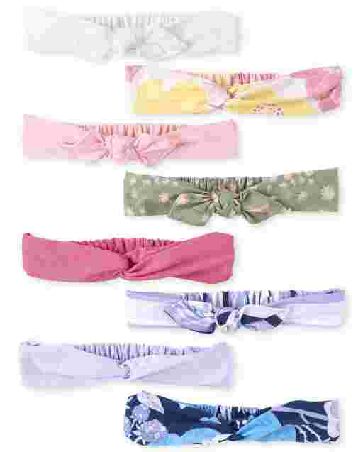Girls Bow Headwrap 8-Pack