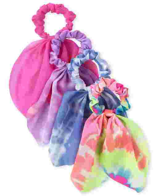 Girls Scarf Scrunchie 4-Pack