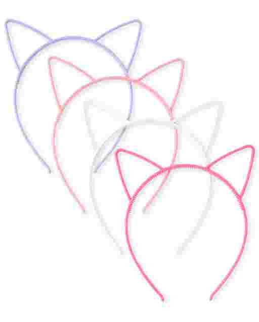 Girls Cat Ears Headband 4-Pack
