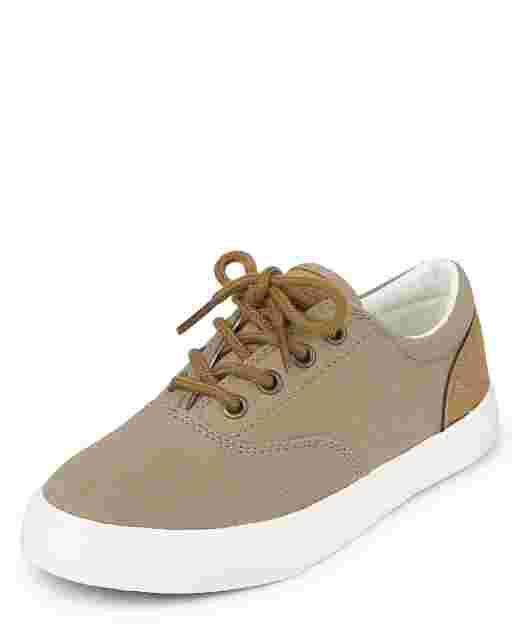 Boys Canvas Low Top Sneakers