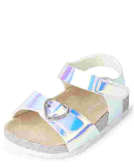 Baby Girls Holographic Glitter Sandals