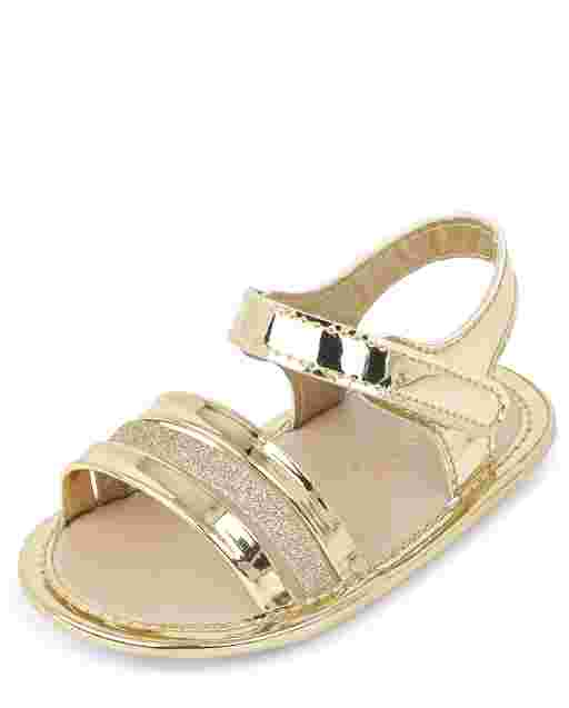 Baby Girls Metallic Glitter Sandals