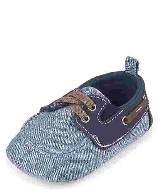 Baby Boys Chambray Boat Shoes
