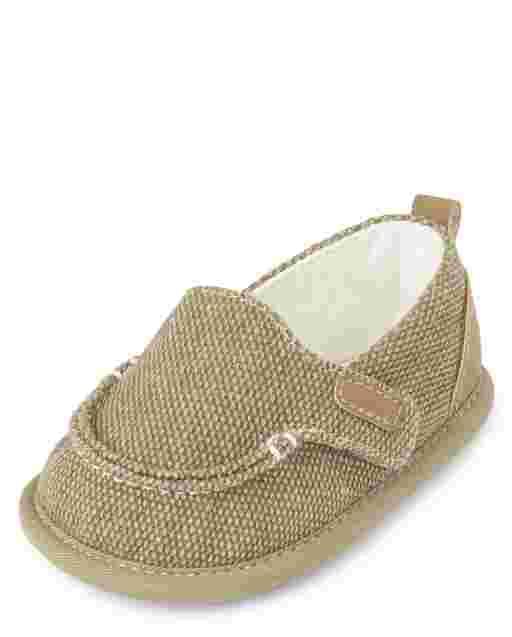 Zapatos de lona sin cordones para bebés varones