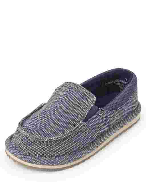 Toddler Boys Canvas Slip On Deck Shoes