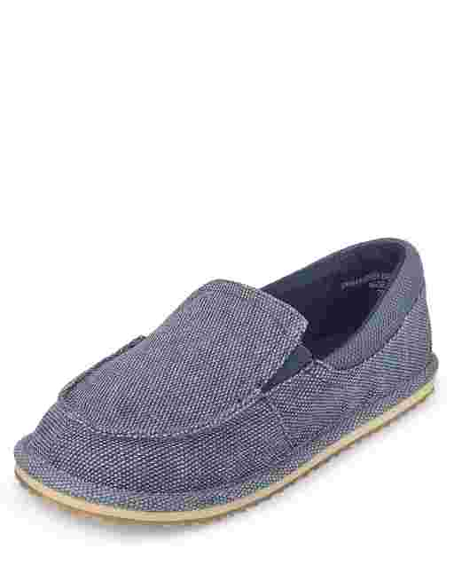 Boys Canvas Slip On Deck Shoes
