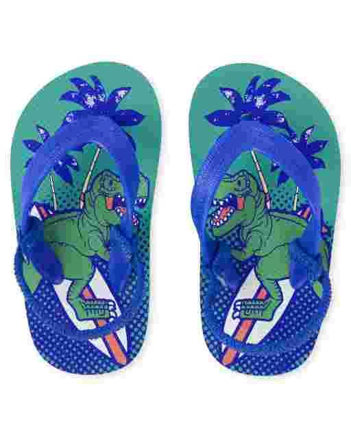 Toddler Boys Dino Flip Flops