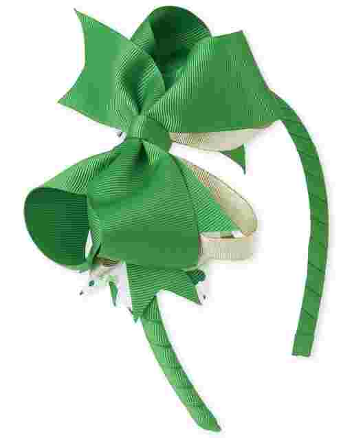 Girls St. Patrick's Day Bow Headband