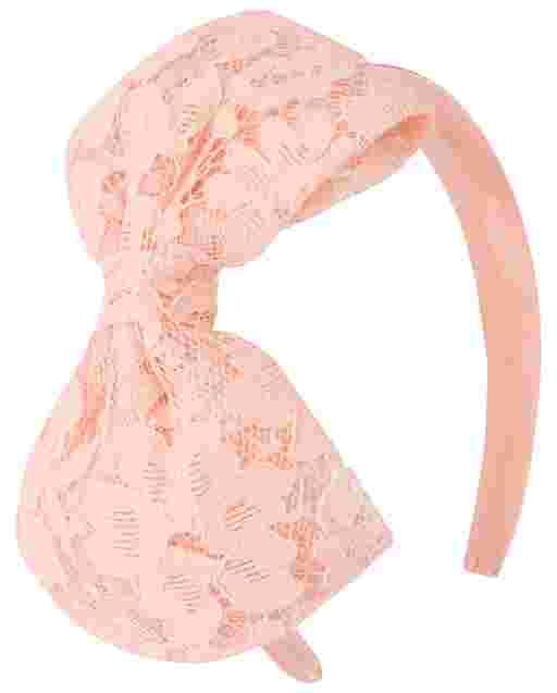 Girls Lace Bow Headband