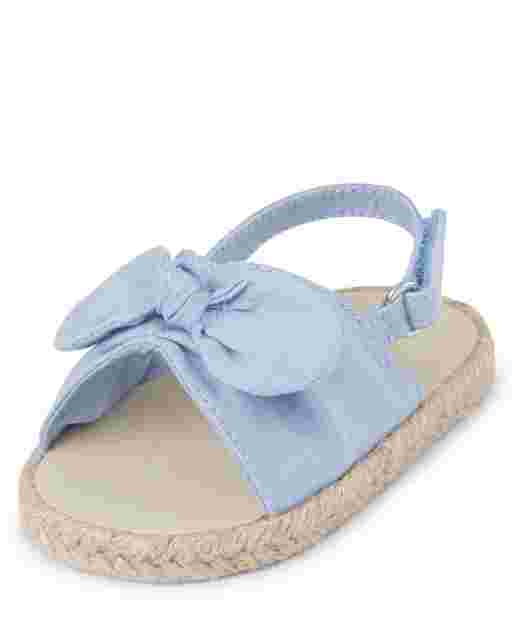 Baby Girls Chambray Bow Espadrilles