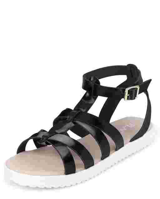 Girls Strappy Gladiator Sandals