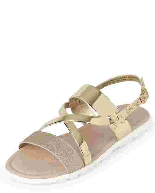 Sandalias brillantes para niñas