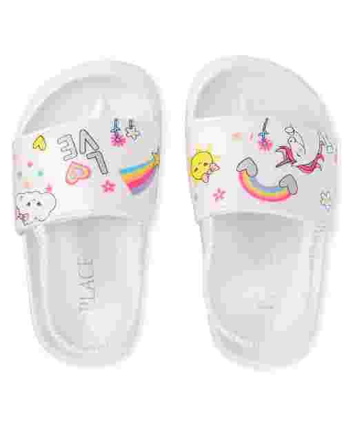 Toddler Girls Iridescent Doodle Slides