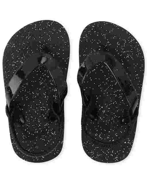 Toddler Girls Glitter Flip Flops