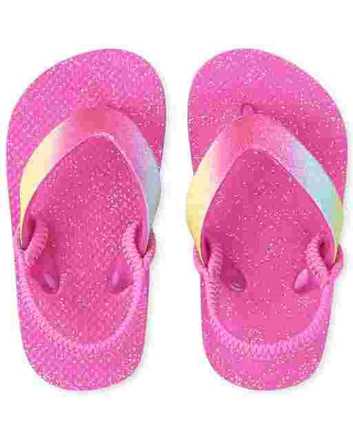 Toddler Girls Glitter Flip Flops