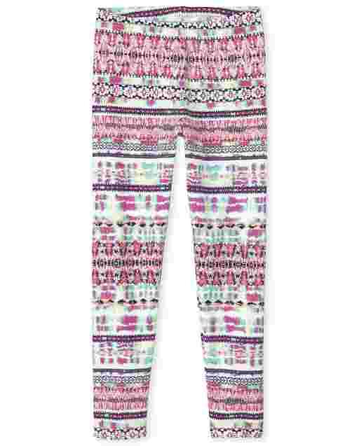 Girls Print Knit Leggings