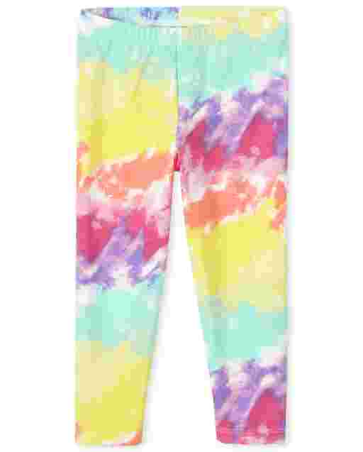 Girls Print Knit Capri Leggings