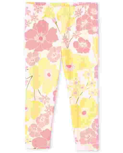 Girls Print Knit Capri Leggings
