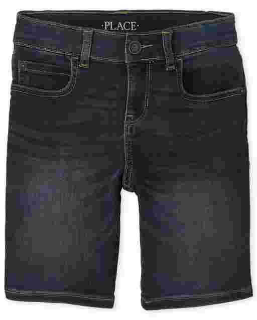 Boys Super-Soft Stretch Denim Shorts