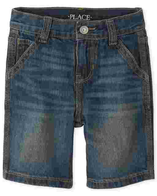 Boys Denim Utility Shorts