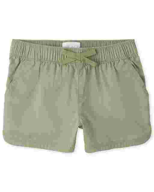 Girls Twill Pull On Shorts
