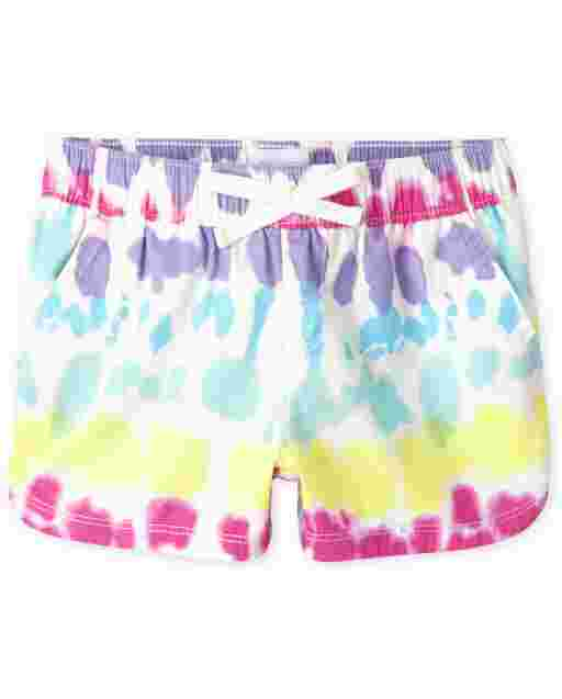 Girls Tie Dye Twill Pull On Shorts
