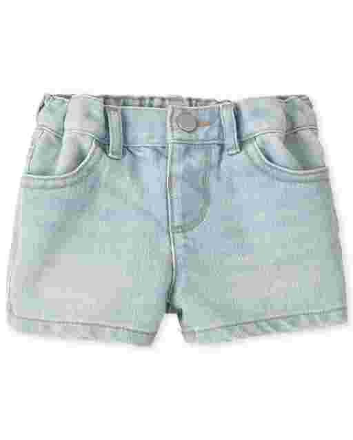 Baby And Toddler Girls Denim Shortie Shorts