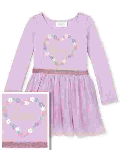 Vestido de tutú tejido a tejido con purpurina ' cumpleaños princesa ' manga corta para bebés y niñas pequeñas