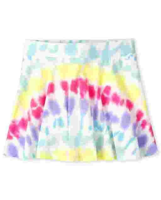 Girls Mix And Match Knit Tie Dye Skort