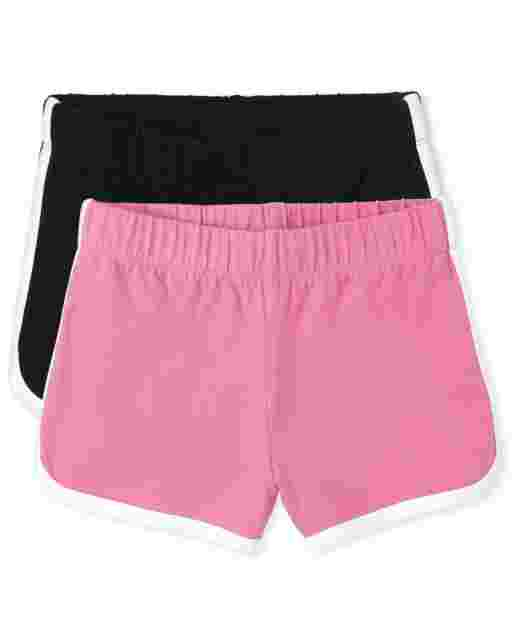 Girls Mix And Match Knit Dolphin Shorts 2-Pack