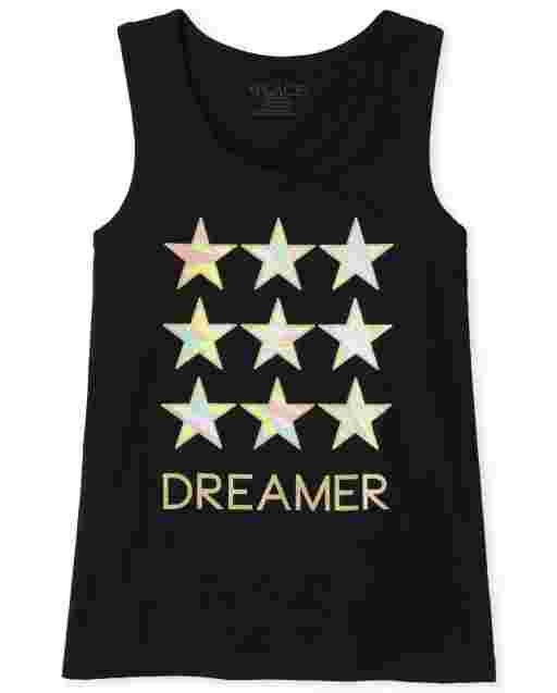 Girls Mix And Match Sleeveless Graphic Racerback Tank Top