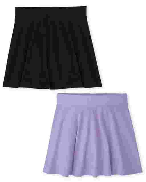 Girls Mix And Match Knit Skort 2-Pack