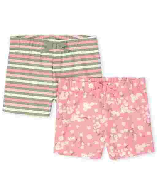 Girls Mix And Match Knit Shorts 2-Pack