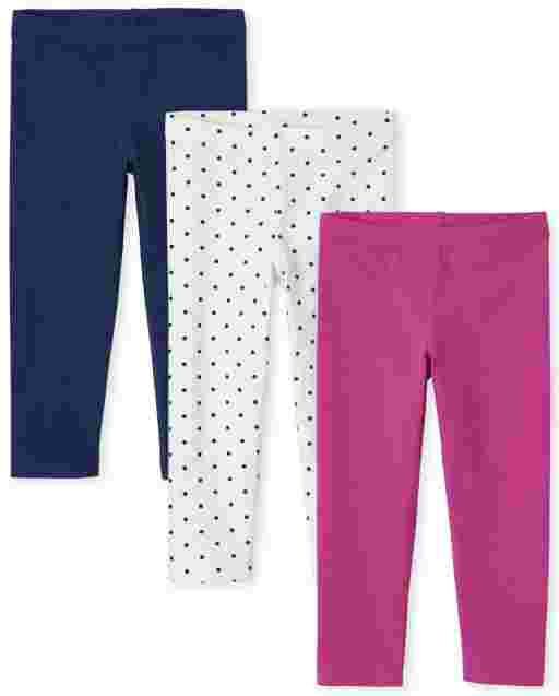 Toddler Girls Knit Leggings 3-Pack