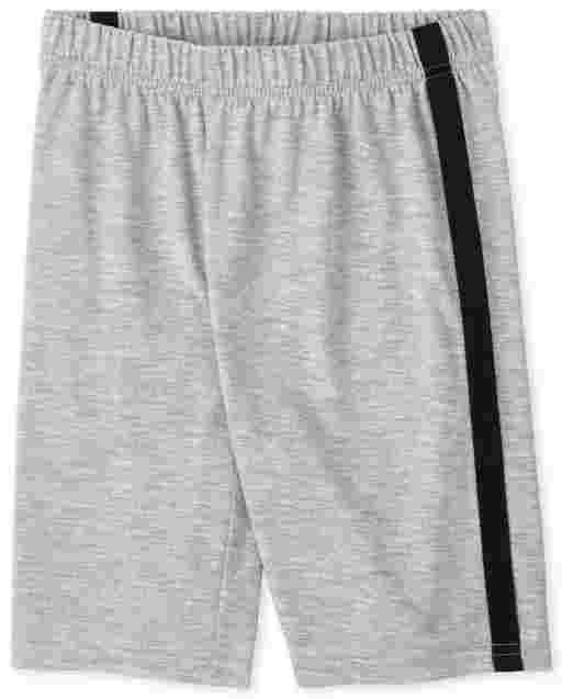 Shorts de pijama con rayas laterales para niños