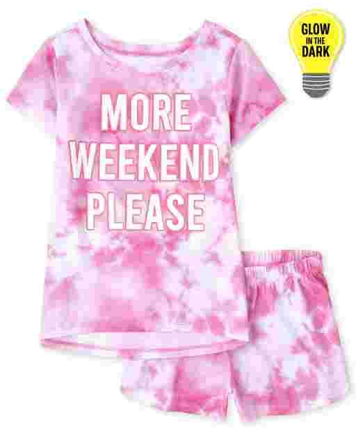 Pijama de fin de semana brillante para niñas