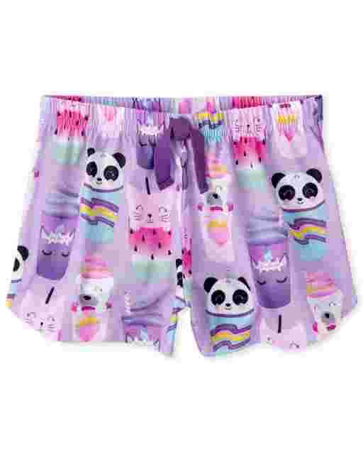 Pantalón corto de pijama niña Animal Frappe